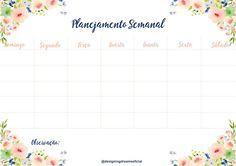 Planner Semanal Grátis para baixar ( jpeg) - Cantinho do blog