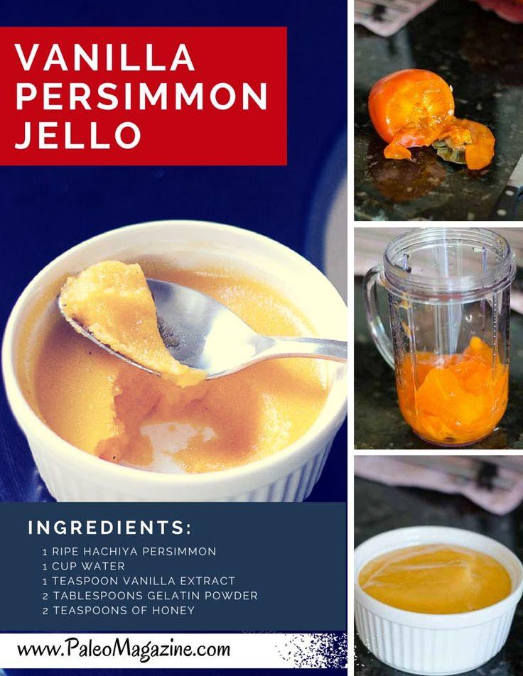 Vanilla Persimmon Jello Dessert Recipe step by step