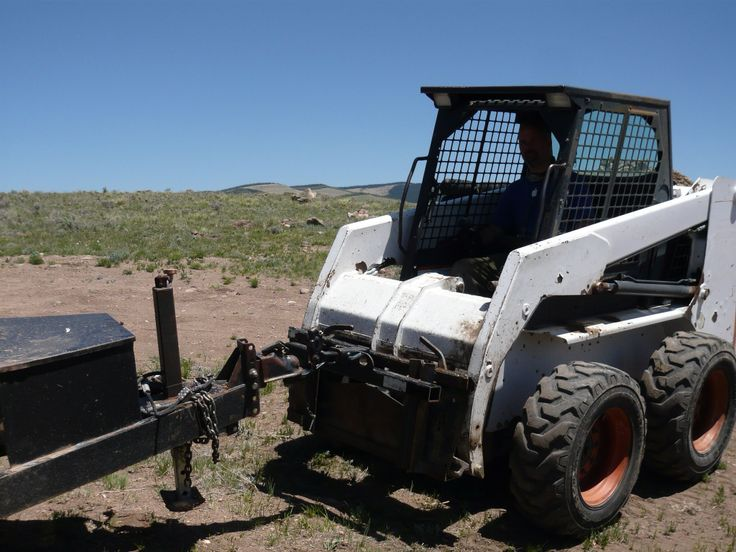 DIY Trailer hitch for the Skid Steer