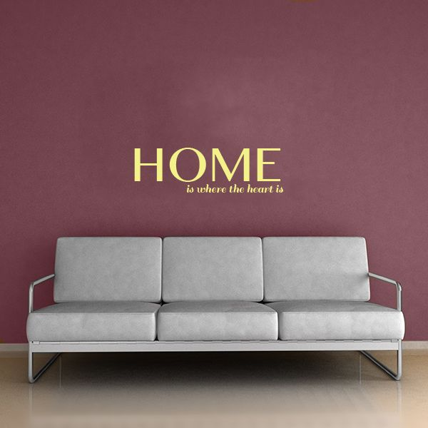 Home Is Where The Heart Is Wall Decal Quote Part 98