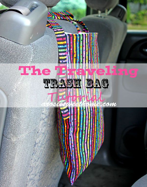 Traveling Trash BagWater Proof, Bags Tutorials, Sewing Crafts, Travel Trash, Rosie Sweets, Sewing Ideas, Cars Trash Bags, Bag Tutorials, Bags Cars