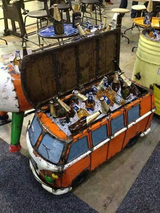 VW Bus Beer Cooler. This would make a sweet mash tun!