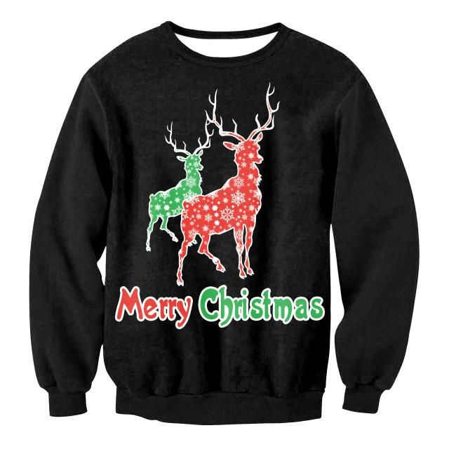 Have a look our new Merry christmas r....   Check the full description from this link: http://uglychristmassweater.store/products/merry-christmas-reindeer-unisex-ugly-christmas-sweater-for-men-and-women?utm_campaign=social_autopilot&utm_source=pin&utm_medium=pin