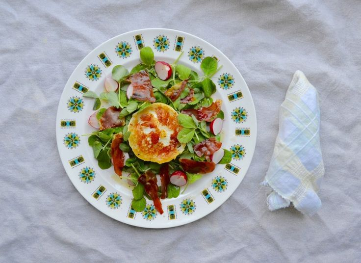 Pea Shoots & Goat's Cheese with Honey Dressing
