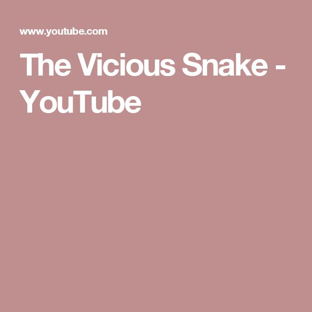 The Vicious Snake - YouTube