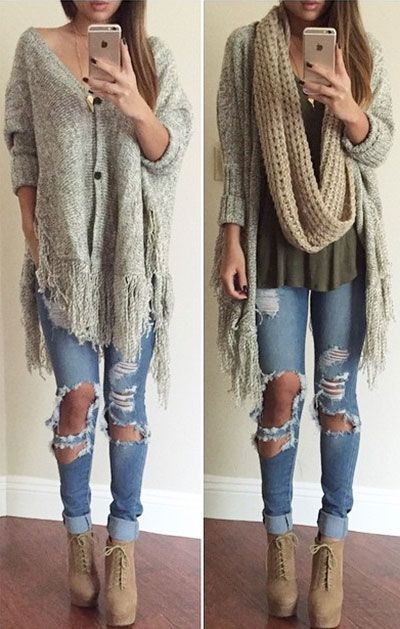 $24.99 for Back to School Time. Faster Shipping! Feminine and stylish! This cardi is a must for you free spirits out there! Plus it has an amazing fringe trim!