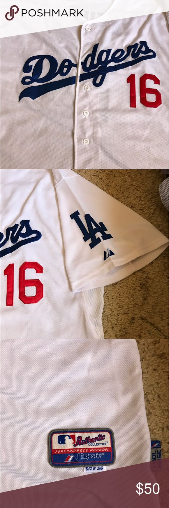 Authentic Dodgers jersey Gently used dodgers jersey, Andre Either #16 men's xl or 56, in great condotion MLB Shirts