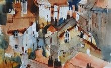 St Aithes Cottages  by Artist Chris Forsey