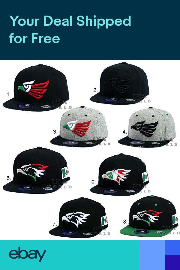 de86a765 Mexican hat Hecho En Mexico Eagle Aguila Logo Snapback Flat bill ...