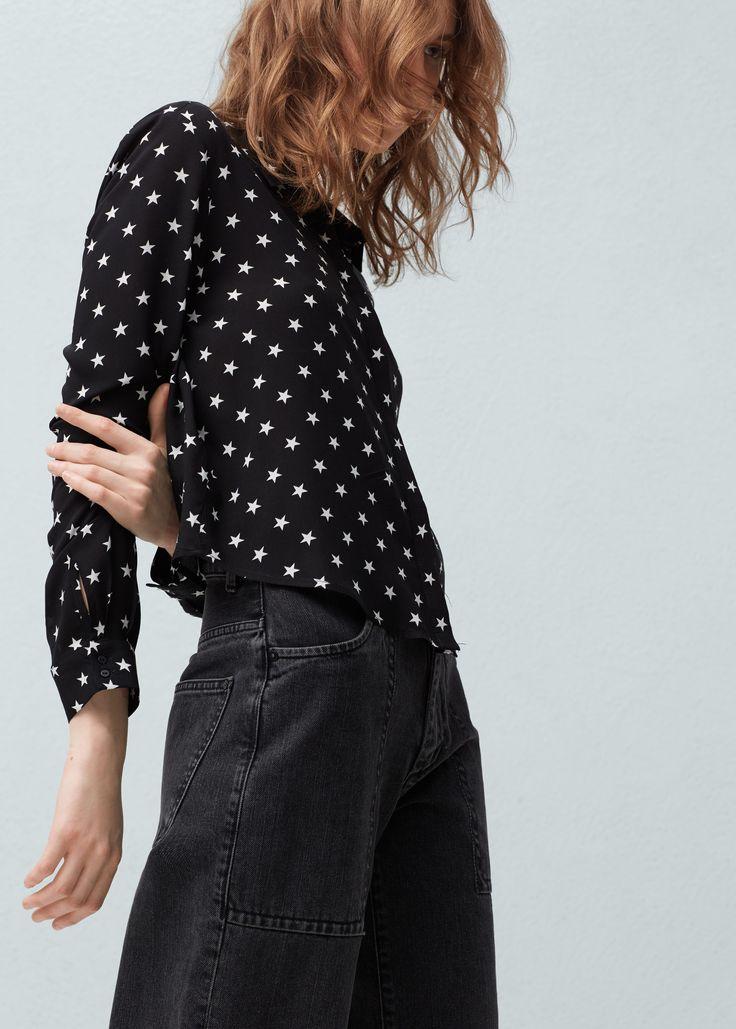 Skjorte med trykk - Skjorter for Damer | MANGO Norge
