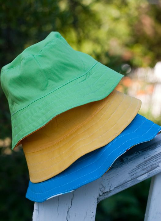 Free bucket hat pattern http://oliverands.com/files/free-patterns/Oliver+SReversibleBucketHat.pdf
