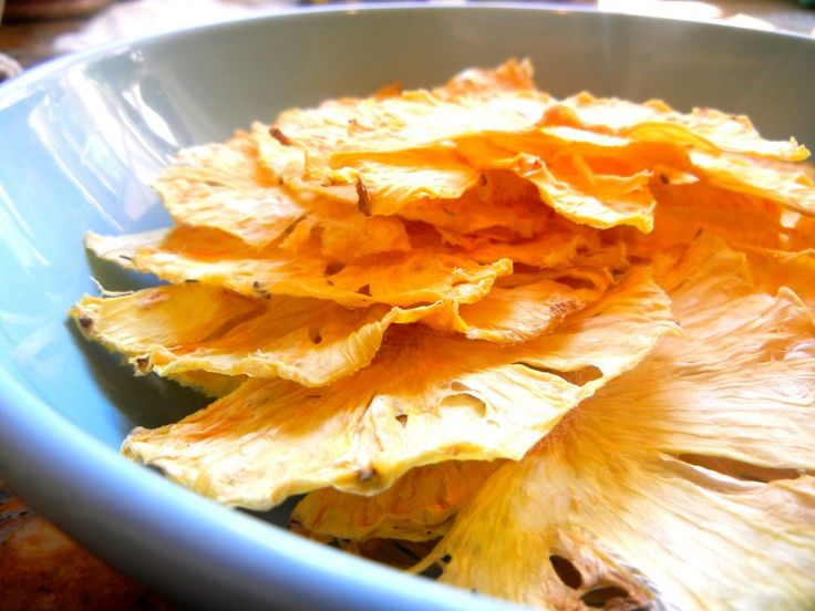 """Pineapple Chips are natures candy! Their burst of flavor is accompanied by the chewy (or crunchy) sensation of candy! This is a GAPS """"candy"""" recipe!"""