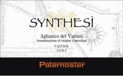 Paternoster Synthesi Aglianico del Vulture, Basilicata, Italy