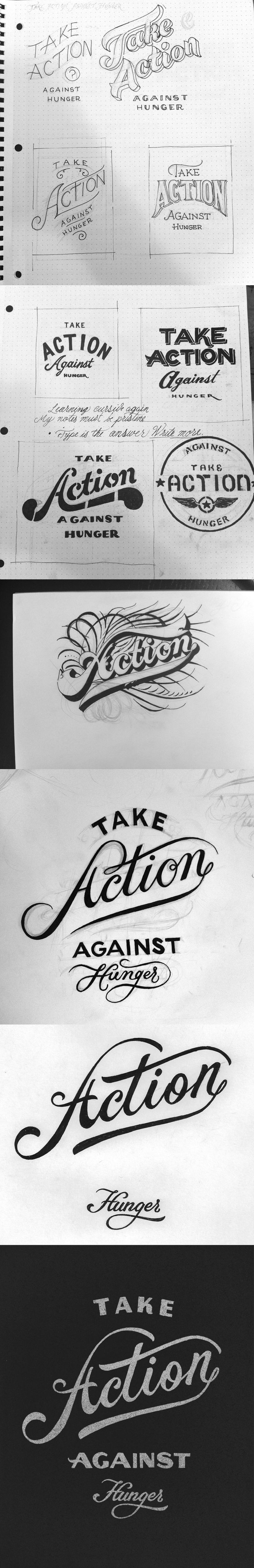 take action typography exploration