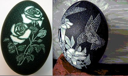 Carved Emu Eggs For Sale | Aditya Emu Farm suppliers of emu chicks,emu birds,emu egss,emu oil,emu ...