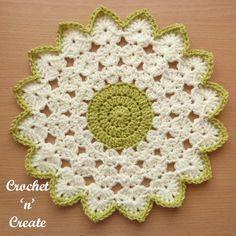 Crochet Round Doily Grátis Crochet Pattern