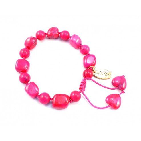 Lola Rose Darci Ruby Pink Magnesite Bracelet at aquaruby.com