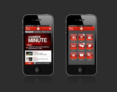 Application IPhone, Android, Radio-Canada