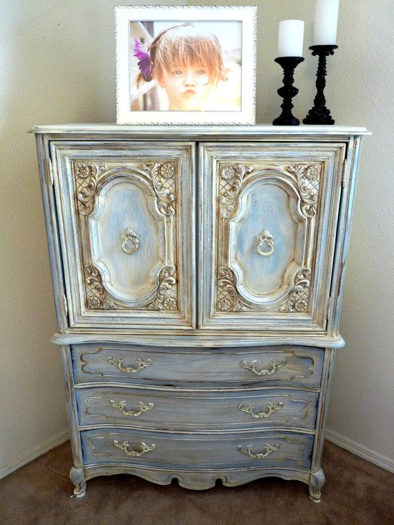 Romantic French Dresser by ABitOWhimsy on Etsy,