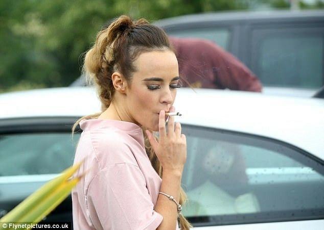 Stephanie Davis smoking