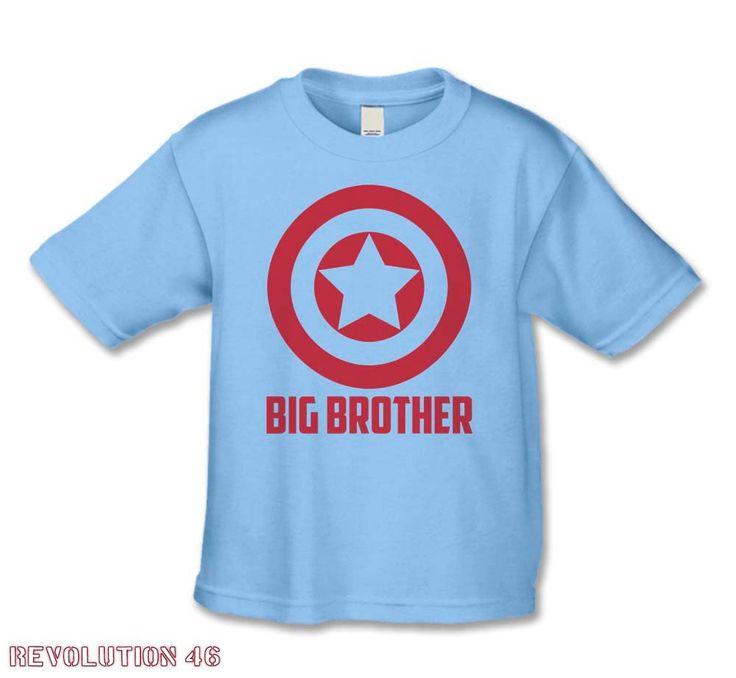 Big Brother Shirt -American Super Hero  Big Brother T-Shirt -( CA Big Brother 1070 RED ink ). $16.00, via Etsy.