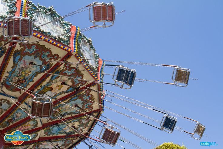 Somewhere over the rainbow, skies are blue…and that's how high is our flying swings' view!