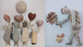 nizar ali Stone Art Ideas | Turning pebbles into pictures of the war in Syria - BBC News