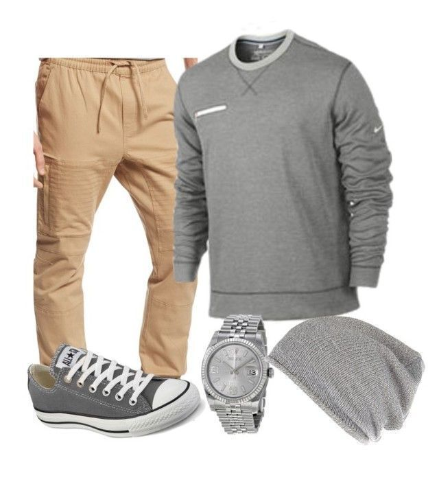 """Jayden's outfit #3"" by lit-mz-hooper on Polyvore featuring Ring of Fire, Converse, Rolex, River Island, mens, men, men's wear, mens wear, male and mens clothing Women, Men and Kids Outfit Ideas on our website at 7ootd.com #ootd #7ootd - Tap the pin if you love super heroes too! Cause guess what? you will LOVE these super hero fitness shirts!"
