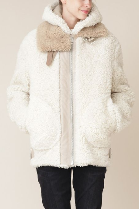 Velocite Reversed Shearling Jacket by Acne