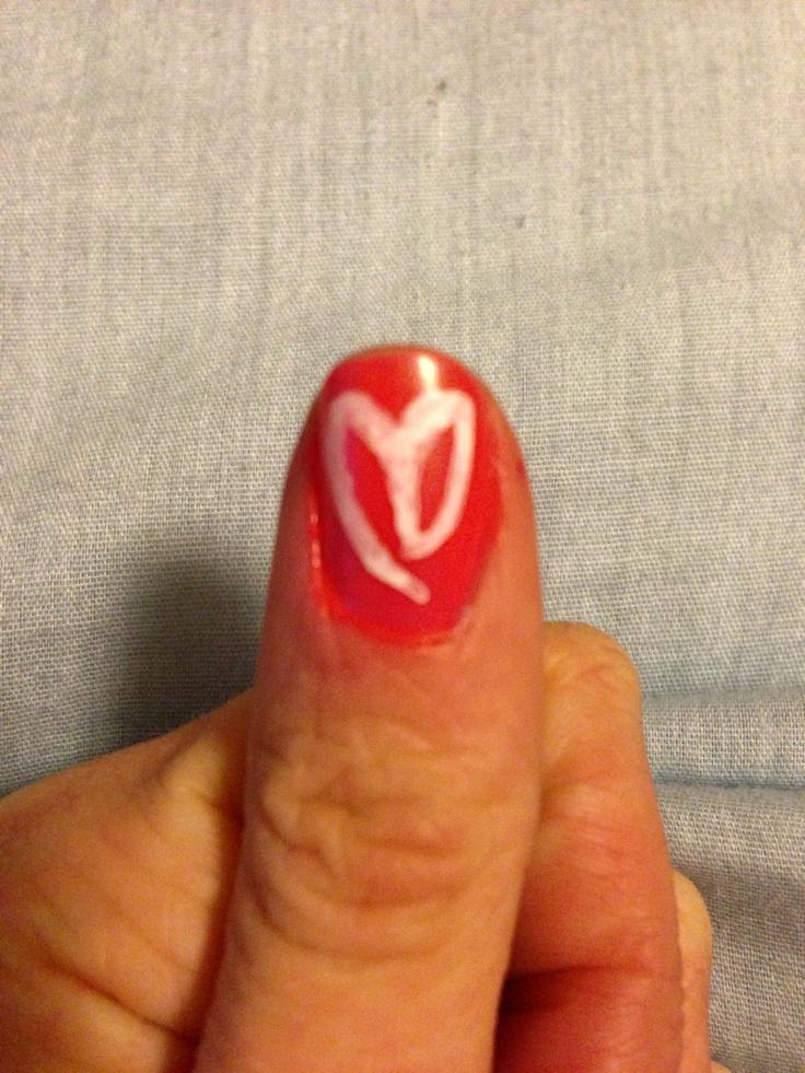 Demi Lovato inspired Nails   Lovatic Heart