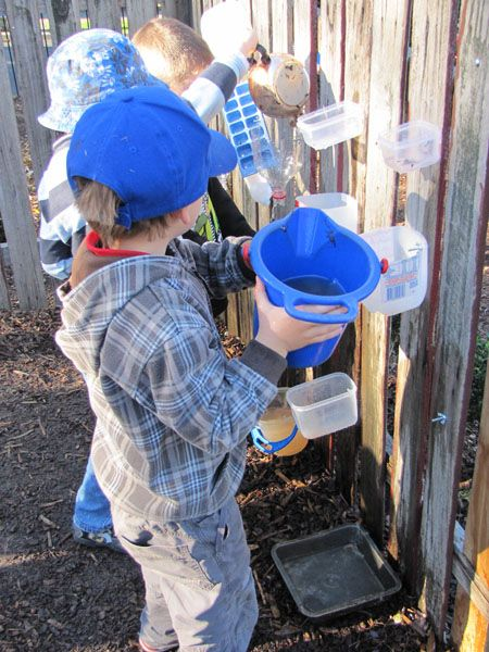 Make a water wall with recyclables. | 39 Coolest Kids Toys You Can Make Yourself
