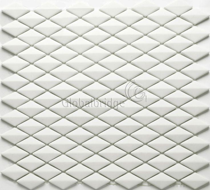 3D diamond enamel mosaic