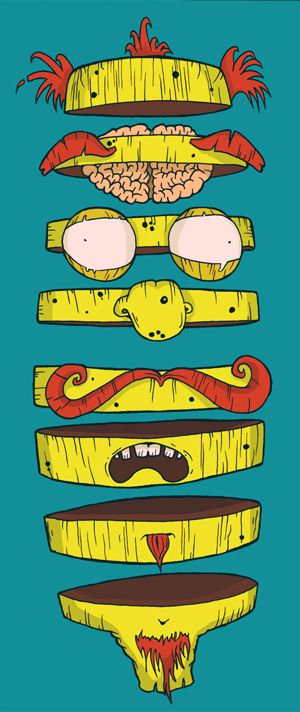 Pieces Of Eight by Mark Wilkie, via Behance