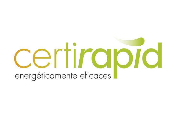 """Al crear el logotipo de Certirapid optamos por la gama de colores naranjas y verdes para mostrar el concepto """"energía""""."""