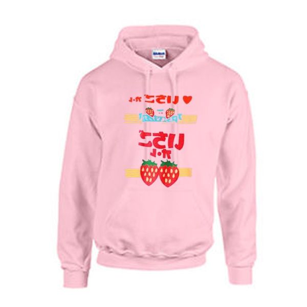 strawberry japanese hoodie from teeshope.com This hoodie is Made To Order, one by one printed so we can control the quality.