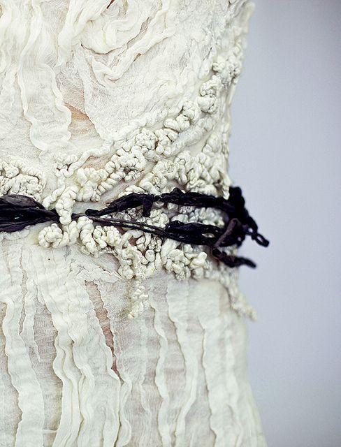 Textiles Surfaces - beautifully layered mixed fabrics and textures; creative textiles inspiration