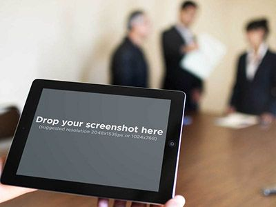 Black iPad in a business meeting. Try it out here: https://placeit.net/stages/black-ipad-landscape-business-meeting Follow us for a chance to snag a free subscription coupon!