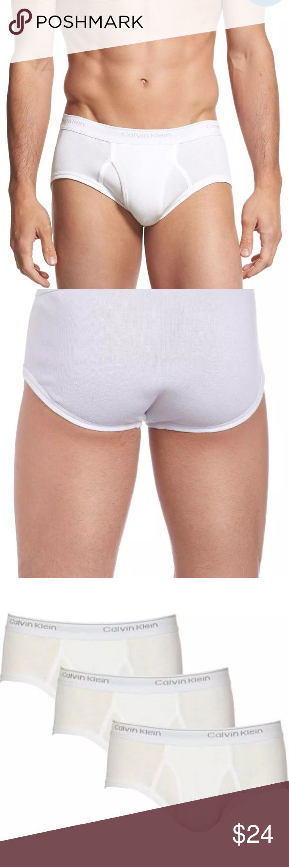 Calvin Klein Mens ClassicFit BriefsUnderwear 3Pack Calvin Klein CK Mens Classic Fit Briefs Underwear 3-Pack. Calvin Klein CK Mens Classic Fit Briefs Underwear 3-Pack  Mens brief underwear. 3-pack, classic fit, elastic waistband, lightweight. Soft, breathable and comfortable cotton  100% Authentic - New with tags  Color: White Fabric Composition: 100% cotton  Condition: New with tags Calvin Klein Underwear & Socks Briefs
