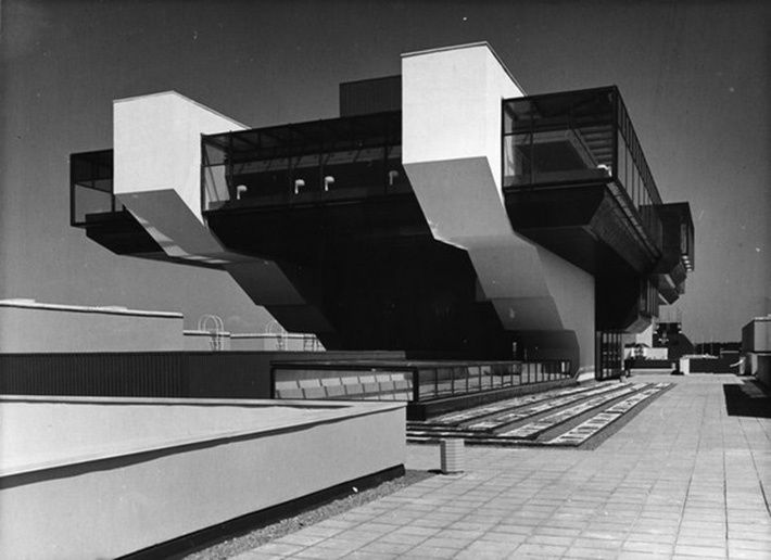 """""""Sport"""" hotel, Tallinn, Estonia // It was built in 1980 for participants and guests of the Olympic Games (sailing competitions were held in Tallinn). According to the project it had to resemble a huge ship with a restaurant in its deck-house."""