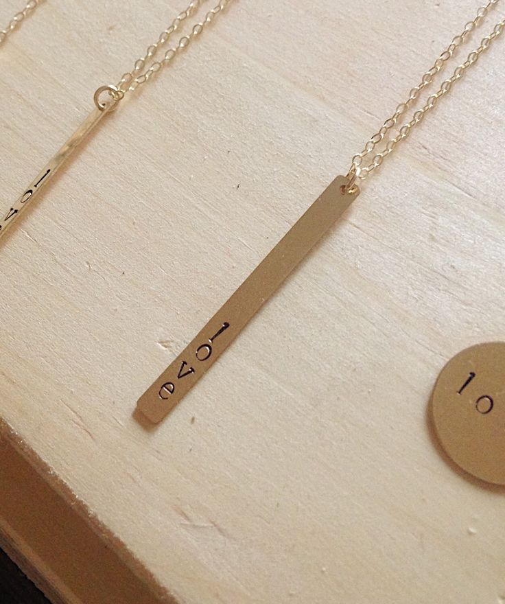 A personal favorite from my Etsy shop https://www.etsy.com/ca/listing/267690093/gold-bar-necklace-long-necklace-14k-gold
