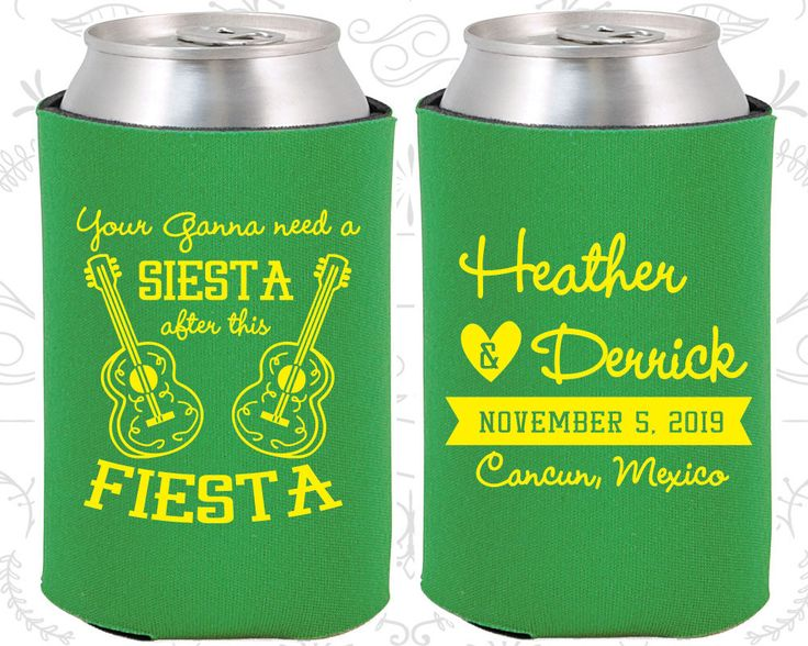 Your Gonna Need a Siesta after this Fiesta, Wedding Party Favors, Fiesta Siesta, Wooden Guitars, Wedding Favor Koozies (207)