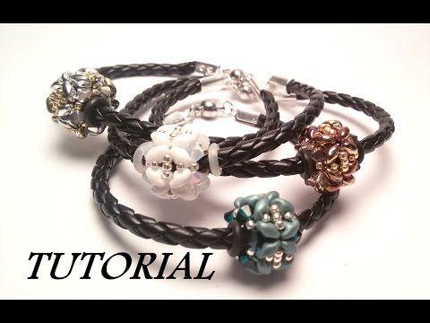 TUTORIAL bracciale con PANDORA di Superduo e Swarovski | Beaded bead bracelet TUTORIAL - YouTube