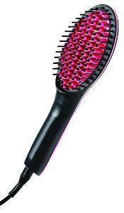 Simply Straight Ceramic Hair Straightening Brush, Black/Pink -   - http://www.beautyvariation.com/beauty/simply-straight-ceramic-hair-straightening-brush-blackpink-com/