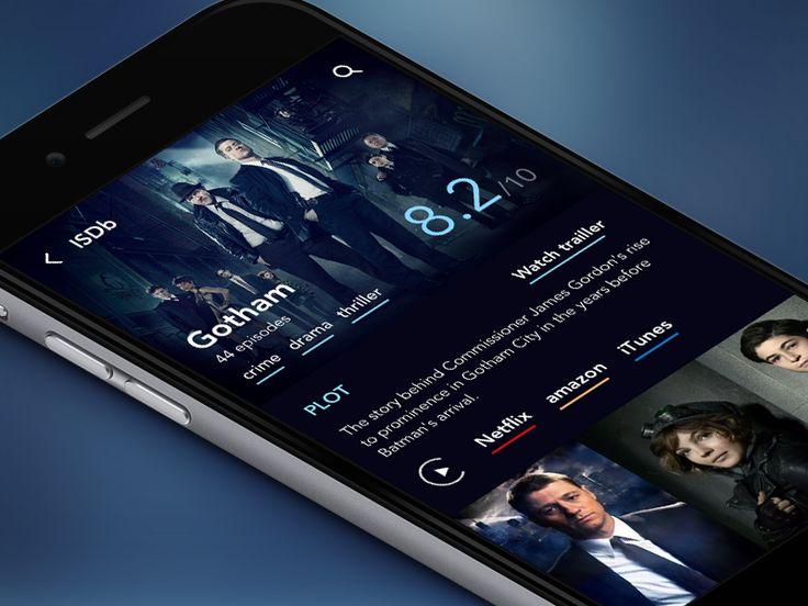 Series Database app  by Julia Mattos