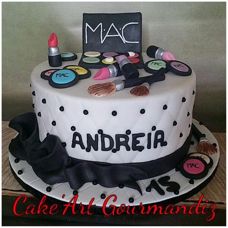 Gâteau d'anniversaire Make up #maquillage #makeupcake #makeup #gateaumaquillage #maccake