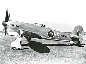 2 September 1942 First flight #flighttest of the Hawker Tempest