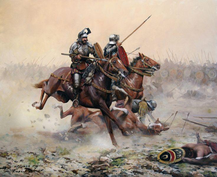 La carga decisiva Otumba 1520 Cortés- Ferrer Dalmau