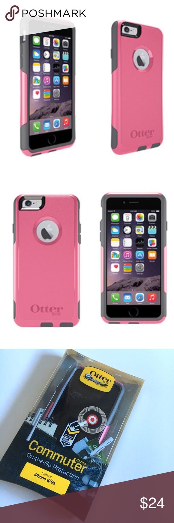 Otter Box iPhone 6/6S Pink Case NWT in box Otter Box Commuter Pink Case for iPhone 6/6S. Dual layer protection against cracks, drops, dust, and scratches. OtterBox Accessories Phone Cases