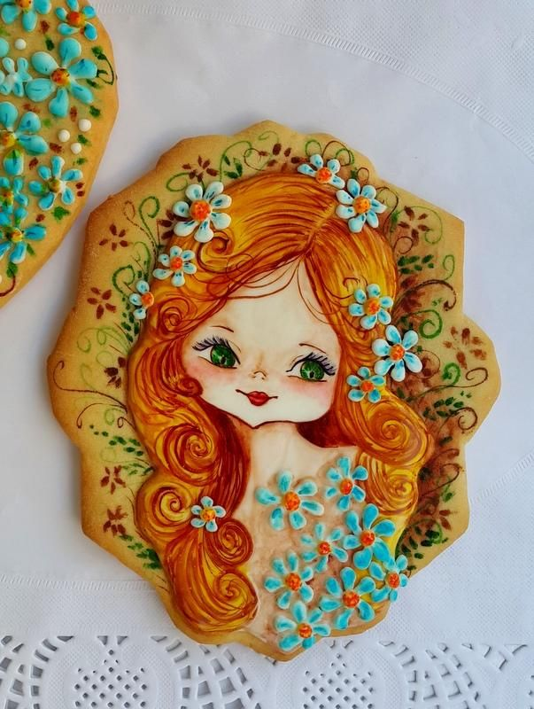 Vesna, hand painted, by Vesna