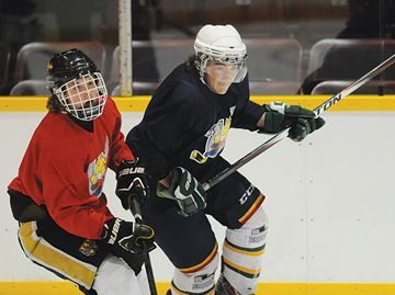 Barrie Colts back in action - Brendan Schneider, left, and Jesse Anderson, are two of the players battling for spot on the roster.